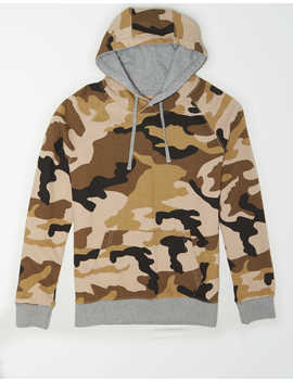 Ae Printed Fleece Pullover Hoodie by American Eagle Outfitters