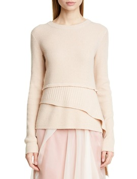 Tiered Wool & Cashmere Sweater by Sies Marjan