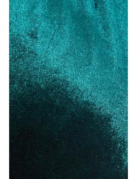 Sam Faiers Curve Bottle Green Velvet Wrap Midi Dress by Quiz