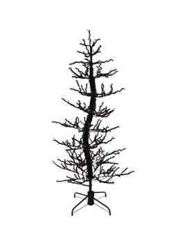 60 In. Animated Halloween Twisted Tree With Moving Branches And Orange Led Lights by Haunted Hill Farm