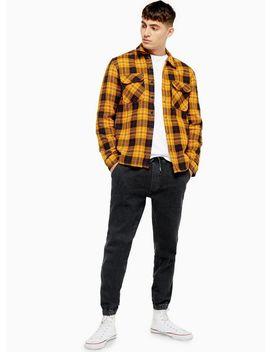 Wash Black Skinny Cuffed Jogger Jeans by Topman
