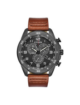 Drive From Citizen Mens Chronograph Brown Leather Strap Watch At2447 01e by Drive From Citizen Eco Drive