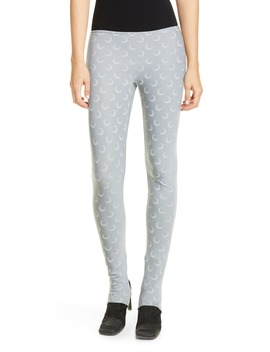 Moon Print Jersey Stirrup Leggings by Marine Serre