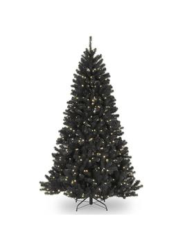 7.5 Ft. North Valley Black Spruce Artificial Christmas Tree With Clear Lights by National Tree Company