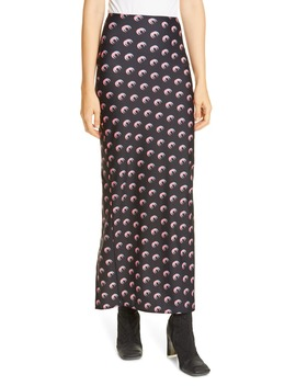 Moon Print Jersey Midi Tube Skirt by Marine Serre