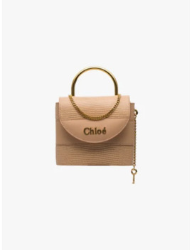 Pink Abylock Leather Tote Bag by Chloé