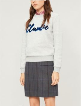 Tomy Logo Appliquéd Cotton Jersey Jumper by Claudie Pierlot