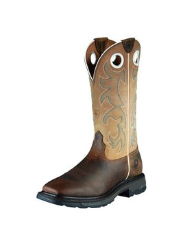 Work Hog Wide Square Toe Tall Steel Toe Work Boot by Ariat