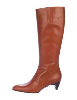 Leather Knee High Boots by Tod's