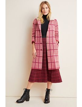 Petra Plaid Sweater Coat by Aldomartins