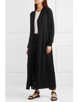 Belted Wool Cardigan by Rick Owens