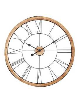 Carved Wooden Wall Clock by Pier1 Imports