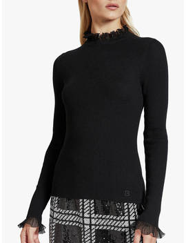 Ted Baker Dvana Ruffle Neck Jumper, Black by Ted Baker