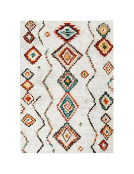 Beausejour High Pile Moroccan Diamond Cream Rug by Latitude Vive