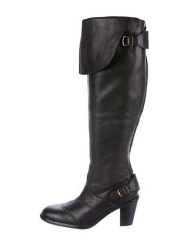 Leather Knee High Boots by Belstaff