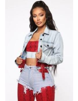 Can't Keep This On The Low Jacket   Burgundy/Combo by Fashion Nova
