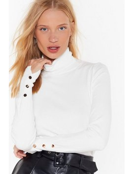 Knit That Beat Turtleneck Button Jumper by Nasty Gal