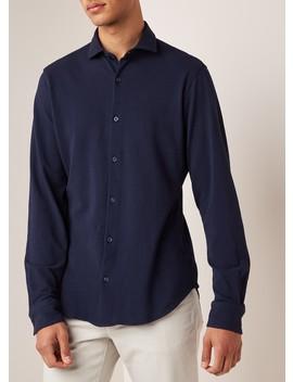 Regular Fit Overhemd Van Jersey Met Structuur by Z Zegna