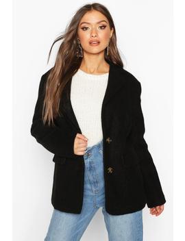 Oversized Wool Look Blazer by Boohoo