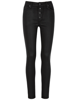 Hoxton Black Skinny Jeans by Paige