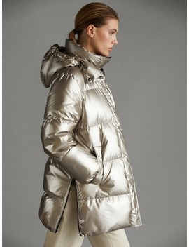 Laminated AprÈs Ski Down Jacket by Massimo Dutti