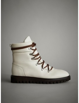 White AprÈs Ski Quilted Flat Ankle Boots by Massimo Dutti