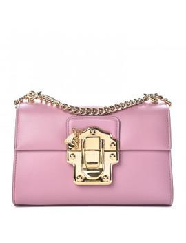 Dolce &Amp; Gabbana Calfskin Lucia Chain Shoulder Bag Pink by Dolce Gabbana