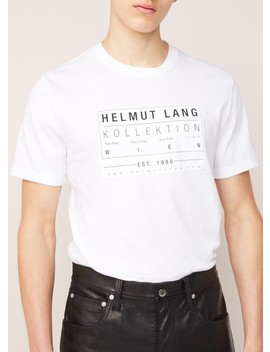 T Shirt Met Logopatch by Helmut Lang