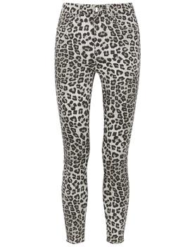 Good Waist Crop Leopard Skinny Jeans by Good American