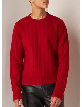 Ribgebreide Pullover In Kasjmierblend by Helmut Lang