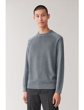 Raglan Sleeved Cotton Sweater by Cos