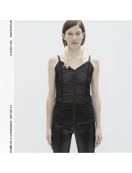 New With The Tags  Helmut Lang Ruched Mesh Slip Tank by Depop