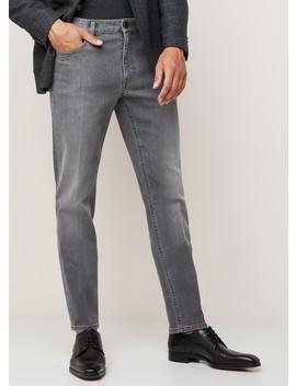 Slim Fit 5 Pocket Jeans Met Stretch by Z Zegna