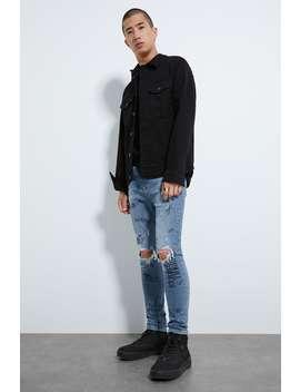 Printed Skinny Jeans by Zara