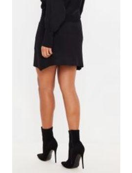Black Rib Knitted Skirt Set by Prettylittlething