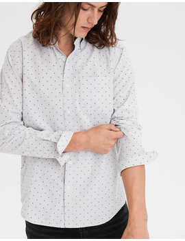 Ae Poplin Printed Button Up Shirt by American Eagle Outfitters