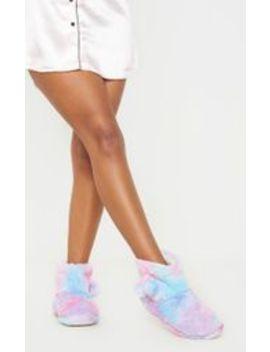 Rainbow Bootie Slipper by Prettylittlething