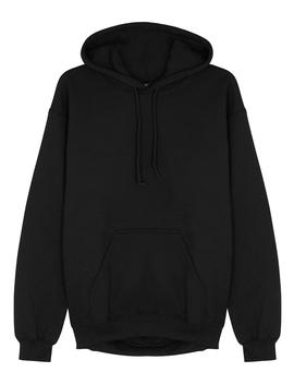 Black Embroidered Cotton Blend Sweatshirt by Ragyard