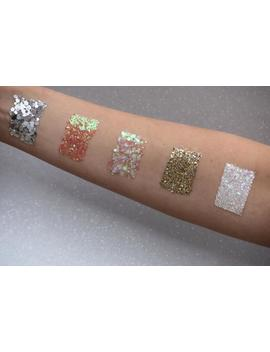 Cosmetic Body &Amp; Face Glitter Bundle 5 Colour Sets 8 G Jars, Holographic Chunky Party Glitter by Etsy