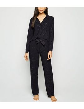 Black Glitter Pyjama Trousers by New Look
