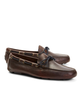 Pebble Leather Driving Mocs by Brooks Brothers