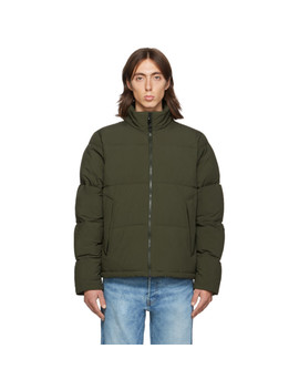 Ssense Exclusive Khaki Quilted Puffer Jacket by The Very Warm
