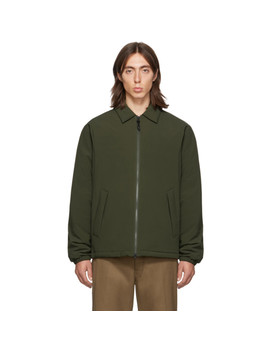 Ssense Exclusive Khaki Fly Weight Coach Jacket by The Very Warm
