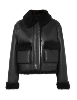 Cropped Shearling Jacket by Aries