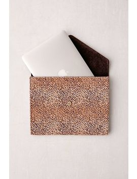 "Wildflower Leopard 13"" Laptop Clutch Case by Wildflower"