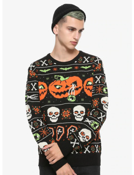 Ugly Halloween Sweater Hot Topic Exclusive by Hot Topic