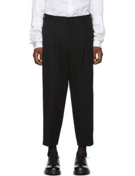Black Gabardine Trousers by Comme Des GarÇons Homme Plus