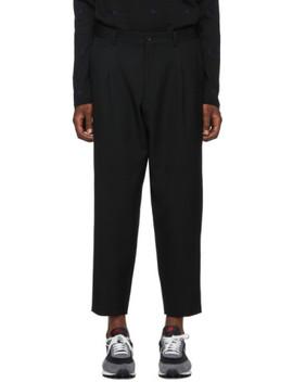 Black Wool Gabardine Trousers by Comme Des GarÇons Homme Deux