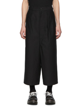 Black Cotton Back Trousers by Comme Des GarÇons Homme