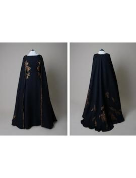 Hand Painted Cape ; Long Silk Cape by Etsy